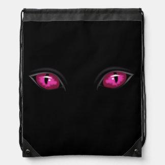 Bolso de lazo de los ojos de gato mochila
