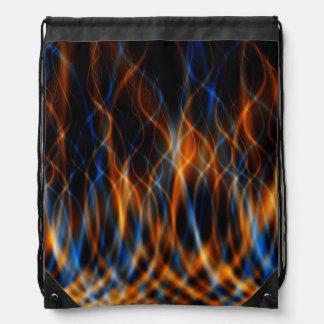 Bolso de lazo del fractal de la llama mochilas