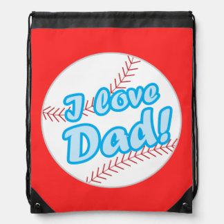 Bolso de lazo del papá del amor del béisbol I Mochila