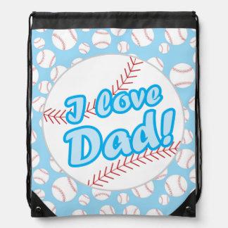 Bolso de lazo del papá del amor del béisbol I Mochilas