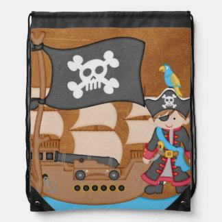 Bolso de lazo del pirata y de la nave del muchacho mochila