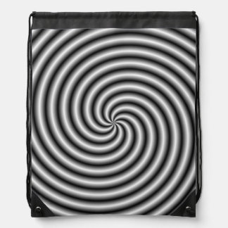 Bolso de lazo   el remolino en blanco y negro mochilas