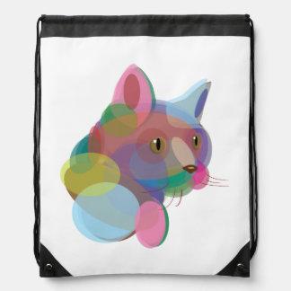Bolso de lazo multicolor del gato mochila