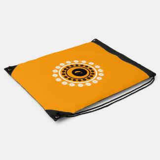 Bolso de lazo negro y anaranjado del monograma C Mochilas