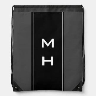 Bolso de lazo rayado personalizado del monograma mochilas