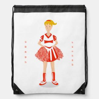 Bolso de lazo rojo de la animadora mochila