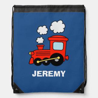 Bolso de lazo rojo personalizado del tren del mochila