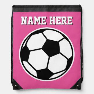Bolso de lazo rosado de neón personalizado del mochila
