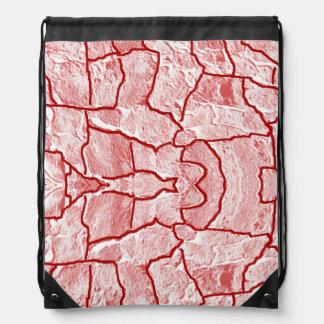 Bolso de lazo rosado veteado mochila
