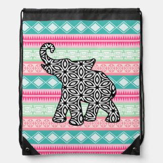 Bolso de lazo tribal azteca del elefante de moda mochila
