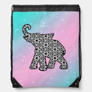 Bolso de lazo tribal del elefante de moda mochila