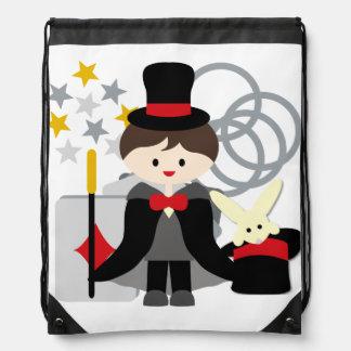Bolso de lazo trigueno del mago del muchacho mochila