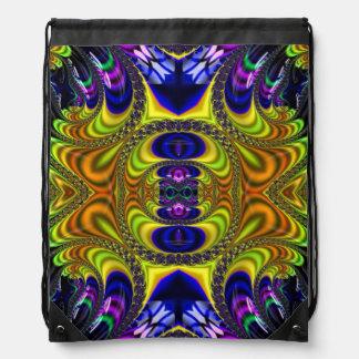 Bolso de lazo Trippy del arte del fractal Mochilas