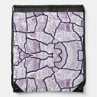 Bolso de lazo veteado de la lila mochilas