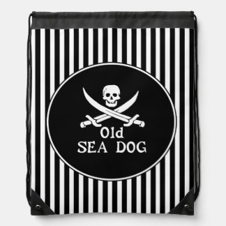 Bolso de lazo viejo del perro de mar mochilas