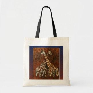 Bolso de los amantes de la jirafa bolsa tela barata