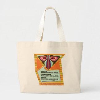 bolso de los anagramas del apego del fractal # 3 bolsa tela grande