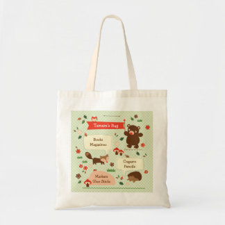 Bolso de los animales del arbolado bolsas lienzo