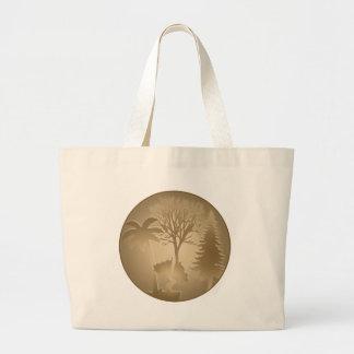 Bolso de los árboles del mundo de la genealogía bolsas de mano