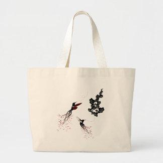Bolso de los colibríes bolsa tela grande