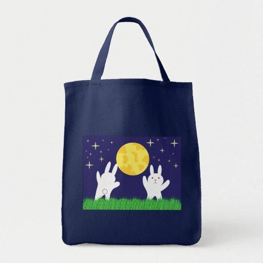 Bolso de los conejitos de la luna bolsa de mano