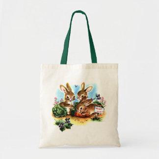Bolso de los conejitos del vintage bolsa de mano