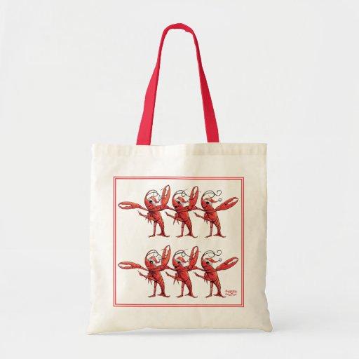 Bolso de los coristas de los cangrejos del navidad bolsa lienzo