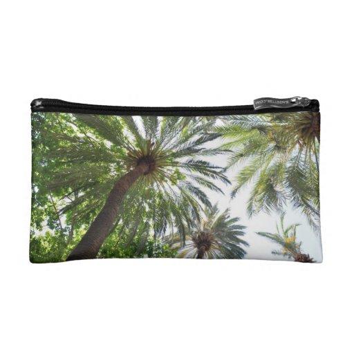 Bolso de los cosméticos - bosque de la palmera