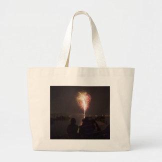 Bolso de los fuegos artificiales bolsa tela grande