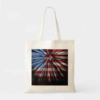 Bolso de los fuegos artificiales de la bandera bolsa tela barata
