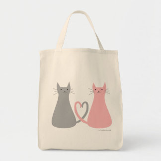 Bolso de los gatos del amor bolsa tela para la compra