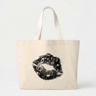 Bolso de los labios de la música bolsa de mano