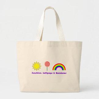 Bolso de los Lollipops y de los arco iris de la so Bolsa Tela Grande