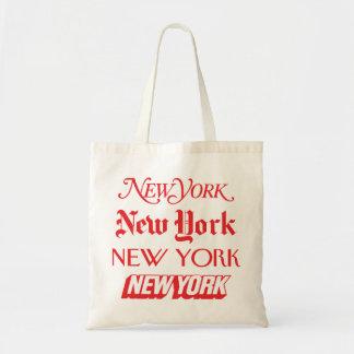 Bolso de los objetos de recuerdo de NYC. Rojo Bolsa Tela Barata