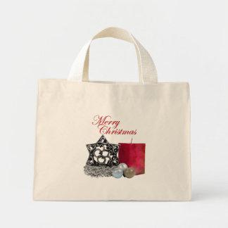 Bolso de los ornamentos del navidad bolsa lienzo
