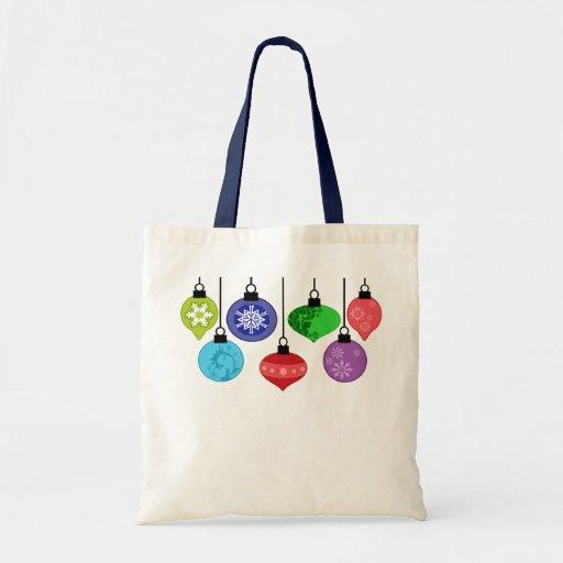 Bolso de los ornamentos del navidad bolsa tela barata