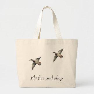 Bolso de los patos en vuelo bolsa de tela grande