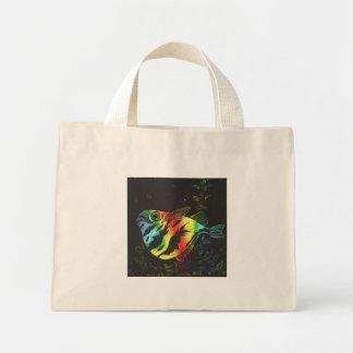 Bolso de los pescados de arco iris bolsa de tela pequeña