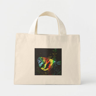 Bolso de los pescados de arco iris bolsa tela pequeña