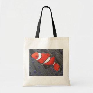 Bolso de los pescados del payaso bolsa de mano