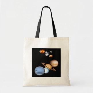 Bolso de los planetas de la Sistema Solar Bolsas Lienzo