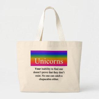 Bolso de los unicornios bolsa tela grande