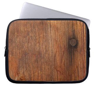 Bolso de madera de la electrónica del falso graner fundas computadoras