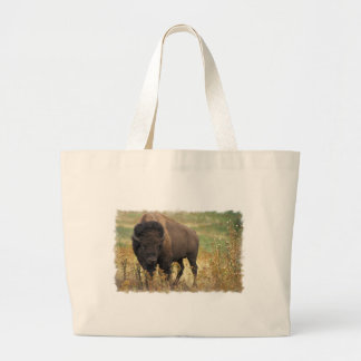 Bolso de madera de la lona del bisonte bolsa