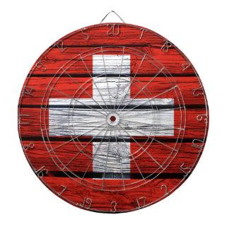 Bolso de madera rústico de la bandera suiza