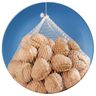Bolso de nueces platos de cerámica
