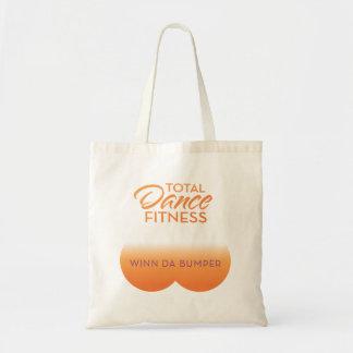 bolso de parachoques; logotipo anaranjado bolsa