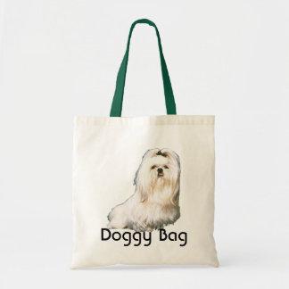 Bolso de perrito - maltés en capa llena bolsa tela barata