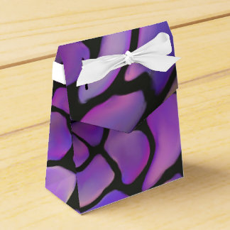 Bolso de piedra púrpura del regalo con el arco caja para regalos