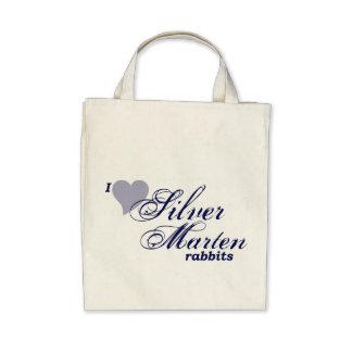 Bolso de plata de los conejos de la marta bolsas de mano